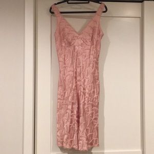 Vintage 90s Betsey Johnson Ultra pink silk dress